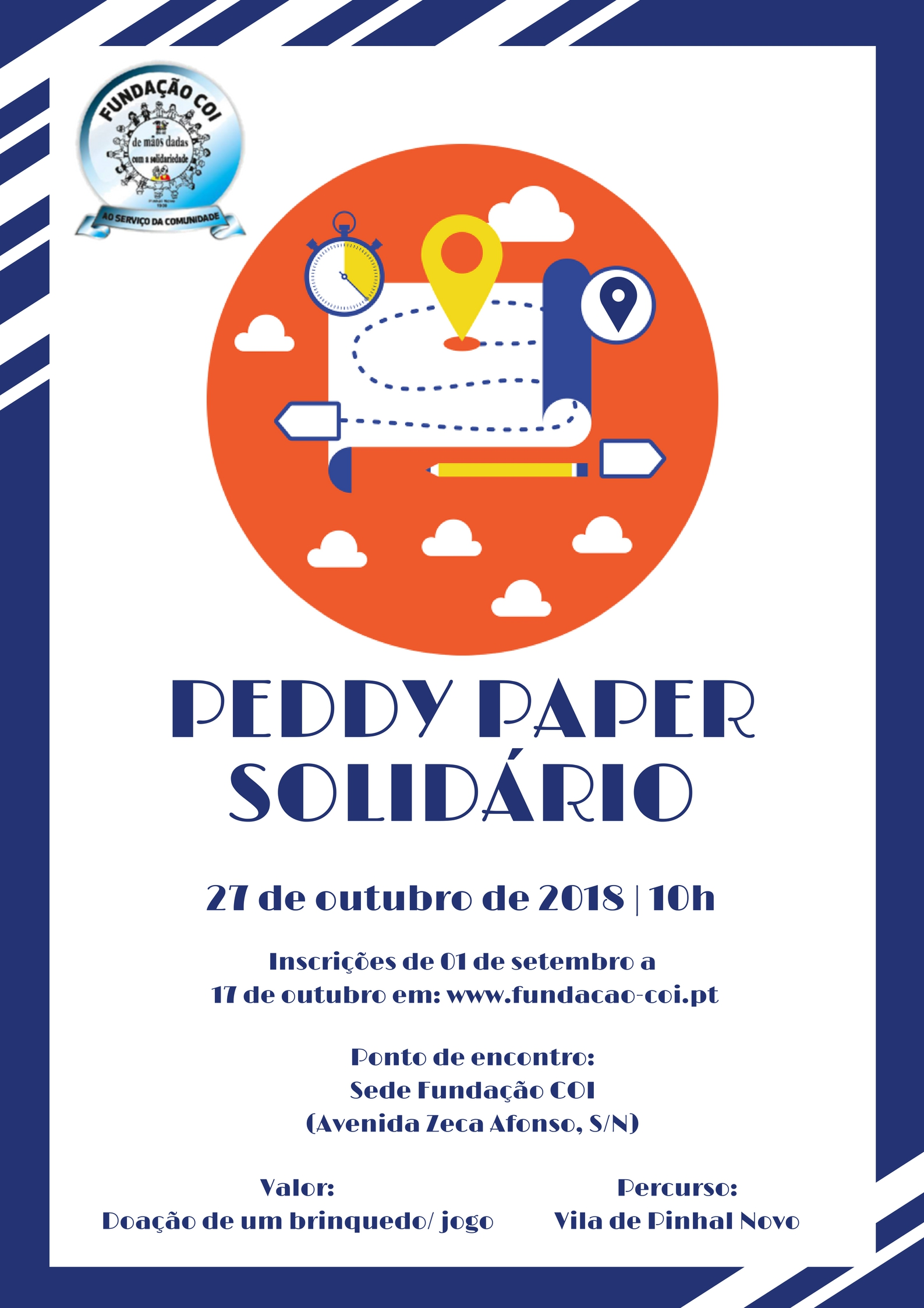 Peddy-paper-solidario cartaz